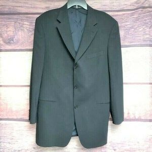 VTG Hugo boss blazer sport coat 100% wool navy 44L